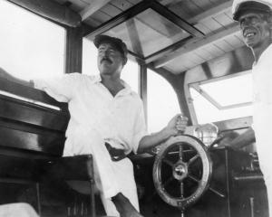 Hemingway on his boat the Pilar
